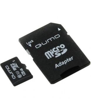 Карта памяти 128GB microSDXC Qumo class 10 Ultra UHS-I с адаптером