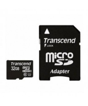 Карта памяти 32GB Transcend Class 10 UHS-I адаптер