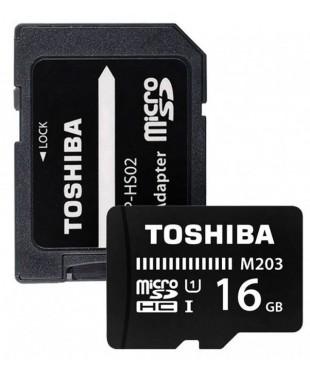 Карта памяти MicroSDHC 16GB Toshiba Class 10 THN-M203K0160EA M203
