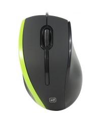 Мышь проводная Defender MM-340 черный/зеленый