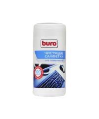 Салфетки чистящие BURO BU-Tsurface для поверхностей в тубе 100шт