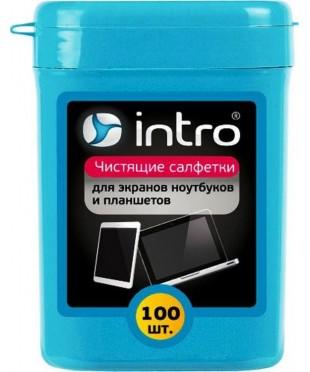 Салфетки чистящие INTRO для LCD TFT мониторов 100шт.