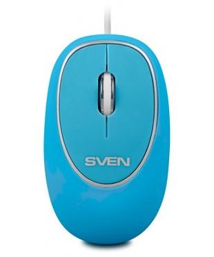 Мышь проводная Sven RX-555 бесшумная, синий
