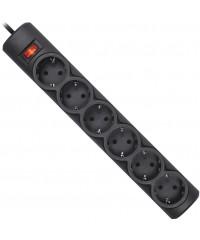 Сетевой фильтр 6 розеток Defender DFS 153 3м черный