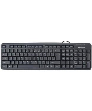Клавиатура USB Defender Element HB-520Bl черная