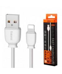 Кабель USB-Lightning iPhone Remax Fast Charging RC-134i 1м 2.1A белый