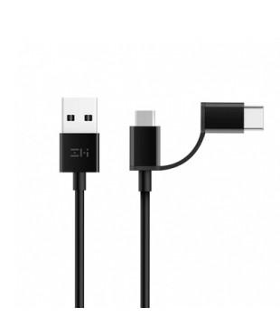 Кабель Xiaomi ZMI USB/Micro/Type-C (AL511) 0.3м Black