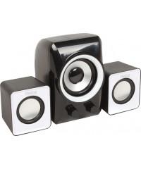 Колонки 2.1 Dialog Colibri AC-202UP 11Вт, USB, черный/белый