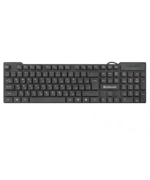 Клавиатура Defender OfficeMate HB-260, мембранная, 104 клавиш, Black