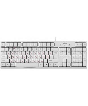 Клавиатура Sven KB-S300 мембранная, 104 клавиши, White