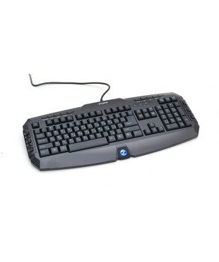 Клавиатура Zalman ZM-K300M мультимедийная 20 доп клавиш лазерное нанесение букв черная