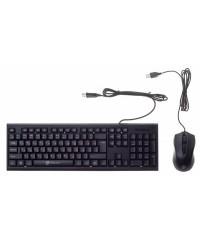 Комплект Oklick 620M клавиатура+мышь Black