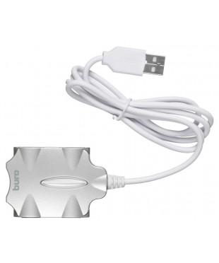 USB Хаб 4xUSB 2.0 Buro BU-HUB4-0.5-U2.0-Candy серебристый