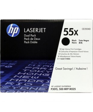Картридж оригинальный HP CE255XD для LJ 3015/ M525dn Black, оригинал 12500 стр. (двойная упаковка) комплект два картриджа, цена за 1шт