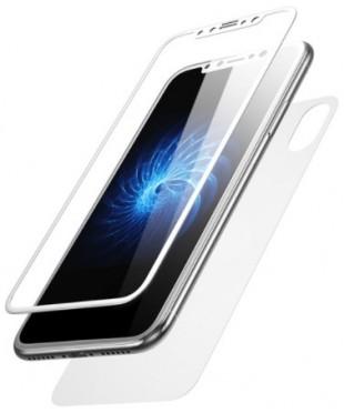 Защитное стекло iPhone X 3D белый