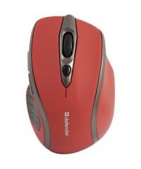 Мышь беспроводная Defender MM-675 красный