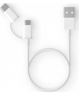 Кабель Xiaomi ZMI USB/Micro/Type-C (AL511) 0.3м White