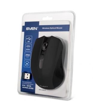 Мышь беспроводная Sven RX-345 Black