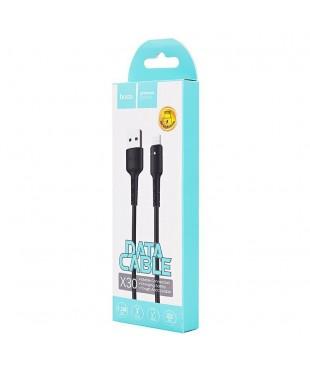 Кабель Hoco X30 Lightning - USB черный