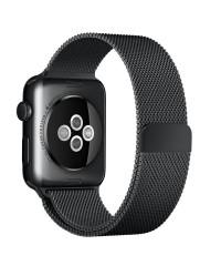 Ремешок Apple Watch 42mm/44mm Milanese Loop черный