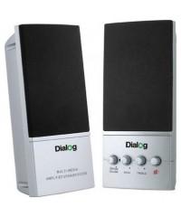 Колонки 2.0 Dialog AM-12s серебро
