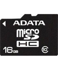 Карта памяти 16GB microSDHC A-DATA  Class 10 UHS-IPremier (R/W 30/10 MB/s) адаптер