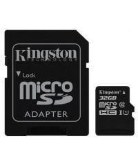 Карта памяти 32GB MicroSDHC Kingston  Class 10 UHS-I  (адаптер)