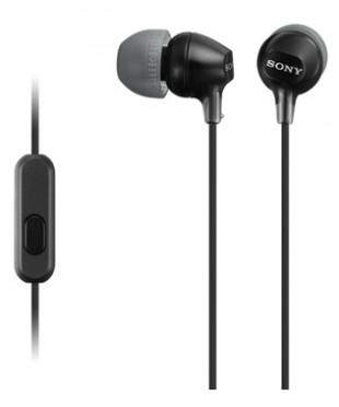 Гарнитура Sony MDR-EX15AP 16Ом, 100дБ,3гр, Black