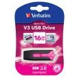 Флеш Диск Verbatim 16Gb STORE N GO V3 49178 USB3.0 розовый