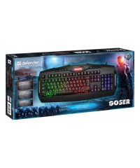 Клавиатура USB Defender Goser GK-772L, RGB подсветка