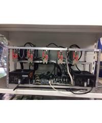 Майнинг-ферма в сборе (MSI AMD RadeOn RX 570 ARMOR 4G OC 4096MB - 5шт, S1150 B85 Biostar TB85 ver. 6.x BTC/Intel Celeron G1840/Блок питания 750W - 2шт/8Gb/SSD 60Gb)