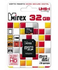 Карта памяти 32GB MicroSDHC Mirex Class10