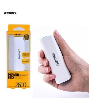Аккумулятор внешний Remax 2600mAh белый