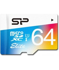 Карта памяти 64GB microSDXC Silicon Power Elite UHS-I Class 10 (адаптер)