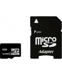 Карта памяти 8GB MicroSDHC Smart Buy Класс 10 (адаптер)