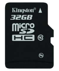 Карта памяти MicroSDHC 32Gb Kingston Class 10 (SDC10/32Gb)