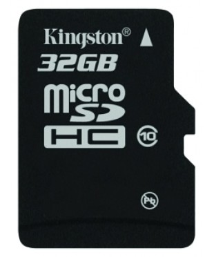 Карта памяти MicroSDHC 32Gb Kingston Class 10 (SDC10/32Gb)