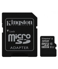 Карта памяти 32GB MicroSDHC Kingston  Class 10 UHS-I  (адаптер)