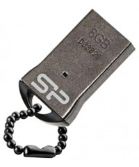 Флэш диск USB Silicon Power 8Gb Touch T01 черный