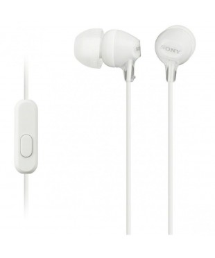 Гарнитура Sony MDR-EX15AP 16Ом, 100дБ,3гр, White