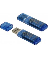 Флэш диск USB Smart Buy 64Gb Glossy голубой