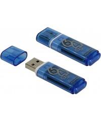 Флэш диск USB Smart Buy 64Gb Glossy голубой
