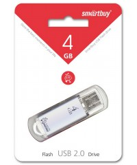 Флэш диск USB Smart Buy 4GB V-Cut серый