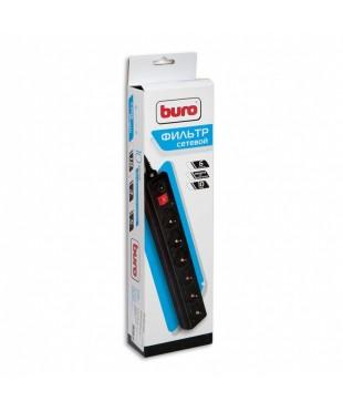 Сетевой фильтр Buro 6 розеток 1.8м черный