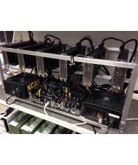 Майнинг-ферма в сборе (Palit GeForce GTX1060 DUAL 6Gb - 6шт, S1150 B85 Biostar TB85 ver. 6.x BTC/Intel Celeron G1840/Блок питания 750W - 2шт/8Gb/SSD 60Gb)